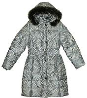 Пальто для девочки подростковое на пуху(пух- 70% , перо-30%), с натуральной опушкой
