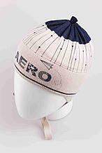 Детская шапка для мальчика BARBARAS Польша BU163 / C голубой весенняя осенняя демисезонная