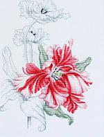 """Набор для вышивания крестом """"Luca-s""""  B2241 Красные тюльпаны"""