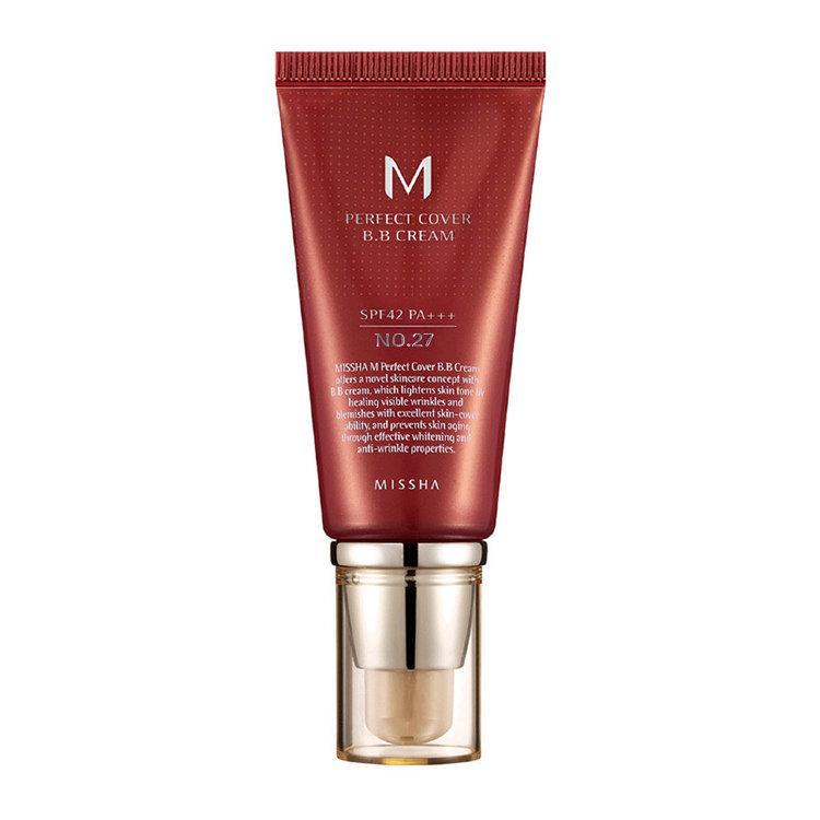 "Missha M Perfect Cover BB Cream №27 ""Honey Beige"" - BB крем (медовый бежевый), 50 мл"