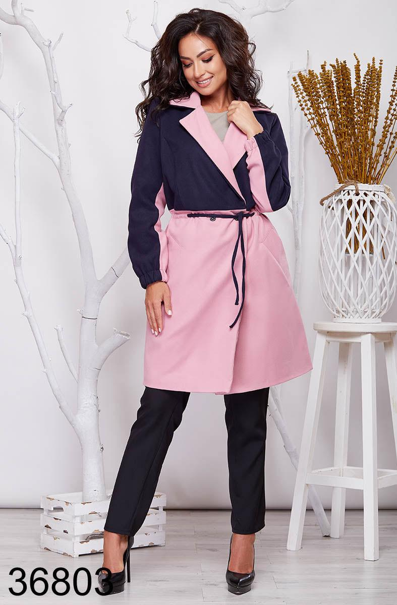Удлиненное женское пальто на запах с воротником 48-50, 52-54, 56-58, 60-62