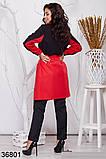 Удлиненное женское пальто на запах с воротником 48-50, 52-54, 56-58, 60-62, фото 4