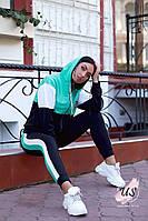 Женский трехцветный батальный спортивный костюм с капюшоном. Цвета!, фото 1