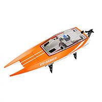 Катер FT016 ( FT016(Orange) р/у2,4G, аккум, 46см, USBзар, в кор-ке, 49,5-20-18,5см)