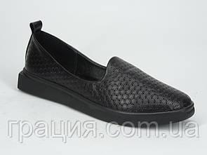 Туфли женские кожаные модные, мягкие, удобные.