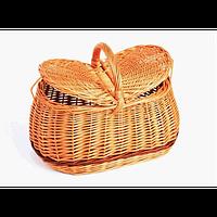 Корзина плетеная для пикника Овальная