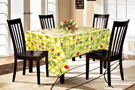 ТЕП скатерть водоотталкивающая фрукты 150*120 желтая