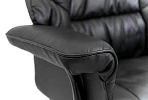 Кресло компьютерное Конгресс Хром М2 (Кожа Люкс), фото 3