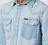 Рубашка джинсовая Wrangler- Rip Away Bleach   (XL), фото 2