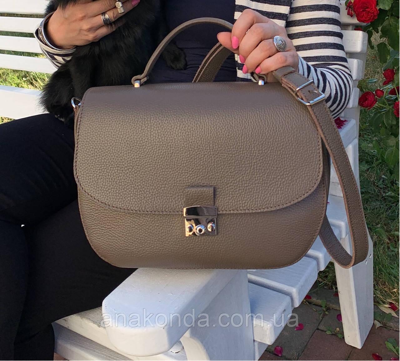582 Натуральная кожа Сумка женская бежевая Кожаная сумка кофейная кожаная сумка светло коричневая женская