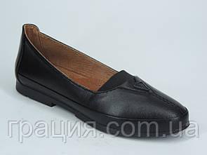 Жіночі туфлі м'які зручні натуральна шкіра