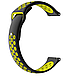 Ремешок BeWatch силиконовый 20мм для  Samsung Galaxy Watch Active   Active 2 40mm Черно - желтый(1010122), фото 2