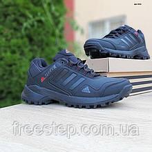 Чоловічі зимові кросівки в стилі Adidas Terrex чорні з червоним