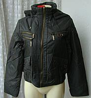 Куртка женская теплая демисезонная капюшон р.46 3878
