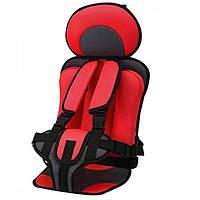 Детское автокресло WOW Lux бескаркасное с подголовником кресло для детей в авто от 9-36 кг Red