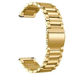 Металевий ремінець Primo для годин Samsung Galaxy Watch 3 45mm (SM-R840) - Gold
