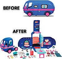 ЛОЛ Автобус MGA L.O.L. SURPRISE Glamper Fashion Гламурный кемпер синий 2-в-1 с аксессуарами (569459)