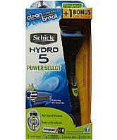 Бритвенный станок Schick HYDRO 5 Power Select с 2-мя картриджами + inside travel cap (футляр) + батарейка