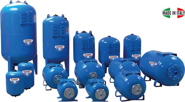Расширительные баки ZILMET для систем водоснабжения