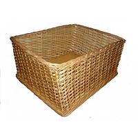 Корзина для хлеба. Торговый плетеный лоток из лозы