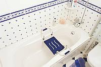 Сидение для ванной с алюминиевой ручкой