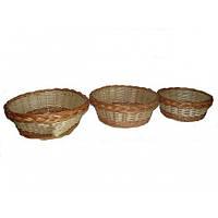 Набор плетеных корзинок - 3 шт, фото 1