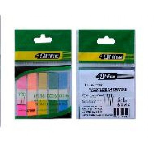 АКЦИЯ!! Стикер-закладки 4OFFICE 4-427 пластик. 5 Когда по 20арк. 12 * 45мм (1/50) 83048