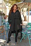 Женское стильное асимметричное платье-туника р. 48-56, фото 2