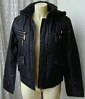 Куртка женская теплая демисезонная капюшон р.46 3883, фото 1