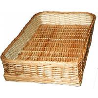 Плетеный лоток с плетеным дном (40х30х8 см)