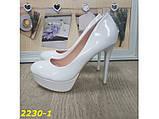Туфли белые на шпильке с платформой 36, 39 р. (2230-1), фото 2