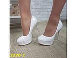 Туфли белые на шпильке с платформой 36, 39 р. (2230-1), фото 3