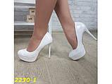 Туфли белые на шпильке с платформой 36, 38, 39 р. (2230-1), фото 6