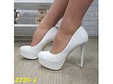 Туфли белые на шпильке с платформой 36, 39 р. (2230-1), фото 7