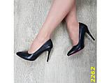Туфли лодочки черные с красной подошвой 36 (2262), фото 5