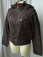 Куртка женская теплая демисезонная капюшон р.50 3890, фото 1