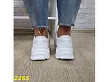 Кроссовки белые на массивной тракторной подошве 36, 37, 38, 39, 40 (2265), фото 6