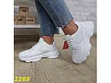Кроссовки белые на массивной тракторной подошве 36, 37, 38, 39, 40 (2265), фото 7