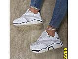 Кроссовки на массивной широкой подошве и рефлективными двойными шнурками 36, 37, 38, 39, 40 (2266), фото 4