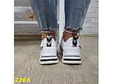 Кроссовки на массивной широкой подошве и рефлективными двойными шнурками 36, 37, 38, 39, 40 (2266), фото 5