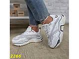 Кроссовки на массивной широкой подошве и рефлективными двойными шнурками 36, 37, 38, 39, 40 (2266), фото 6