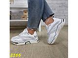 Кроссовки на массивной широкой подошве и рефлективными двойными шнурками 36, 37, 38, 39, 40 (2266), фото 7