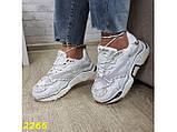Кроссовки на массивной широкой подошве и рефлективными двойными шнурками 36, 37, 38, 39, 40 (2266), фото 8