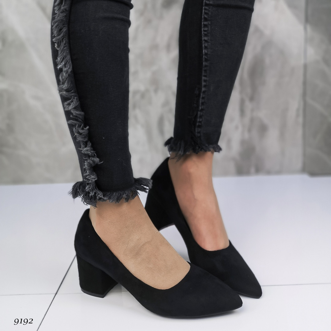 Женские туфли лодочки на удобном каблуке