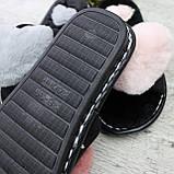 Тапочки домашние ЗАКРЫТЫЕ, женские, р. 36/37. Пушистые женские тапочки, обувь для дома, фото 2