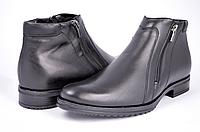 Мужские ботинки mida 14678ч черные   зимние