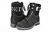 Женские ботинки mida 24382нуб.ч темно-серые   зимние