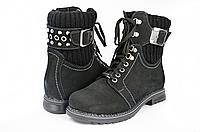 Женские ботинки mida 24382нуб.ч темно-серые   зимние , фото 1