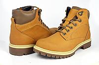 Мужские ботинки mida 14717кемел рыжие   зимние , фото 1