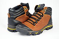Мужские ботинки mida 14937рыж рыжие   зимние , фото 1